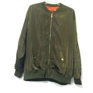 Mega Wear Womens Plus Size 3X Green Bomber Jacket